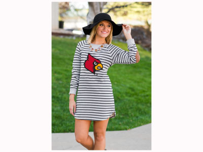 Louisville Cardinals NCAA Women's Striped French Terry Tunic