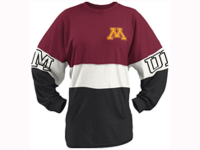 Minnesota Golden Gophers Pressbox NCAA Women's Clarity Sweeper T-Shirt