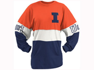 Illinois Fighting Illini Pressbox NCAA Women's Clarity Sweeper T-Shirt