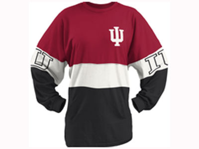 Indiana Hoosiers Pressbox NCAA Women's Clarity Sweeper T-Shirt