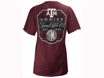 Texas A&M Aggies Pressbox NCAA Women's Buffalo Plaid Big T-Shirt