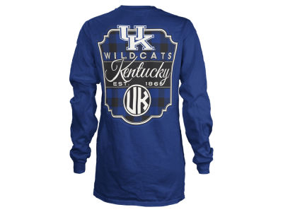 Kentucky Wildcats Pressbox NCAA Women's Buffalo Plaid Long Sleeve T-Shirt