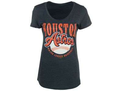 Houston Astros 5th & Ocean MLB Women's Fast Pitch Scoop T-Shirt