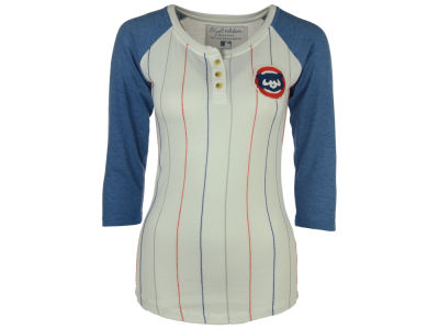 Chicago Cubs Red Jacket MLB Women's Lockhart Raglan T-Shirt
