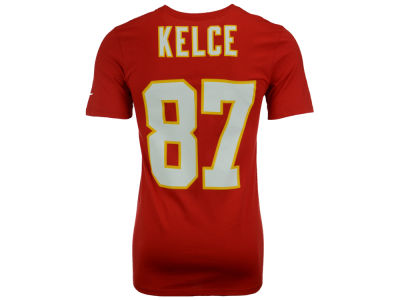 Kansas City Chiefs Travis Kelce Nike NFL Men's Pride Name and Number T-Shirt