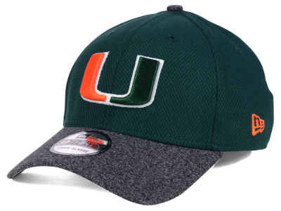 Miami Hurricanes New Era Shadow Tech Diamond Era 39THIRTY Cap