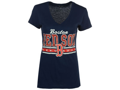 Boston Red Sox GIII MLB Women's Flyout Glitter T-Shirt