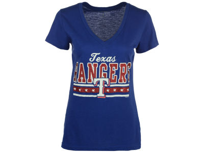 Texas Rangers G-III Sports MLB Women's Flyout Glitter T-Shirt