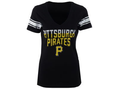 Pittsburgh Pirates GIII MLB Women's Walk Off Sleeve Stripe T-Shirt