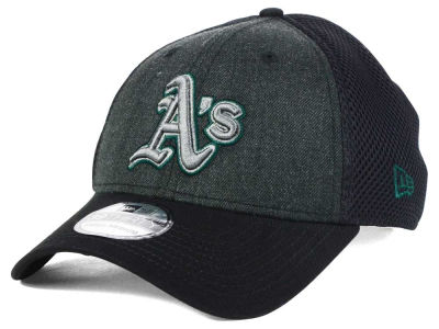 Oakland Athletics New Era MLB Black Heathered Neo 39THIRTY Cap