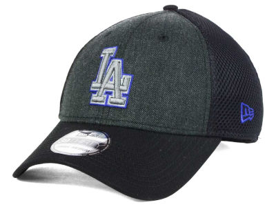 Los Angeles Dodgers New Era MLB Black Heathered Neo 39THIRTY Cap