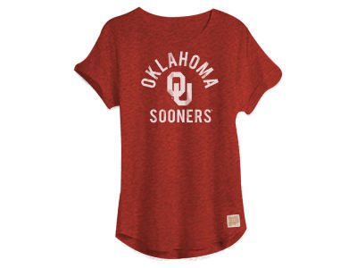 Oklahoma Sooners NCAA Women's Rolled Sleeve Foil T-Shirt