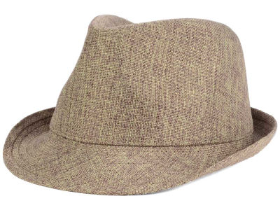 LIDS Private Label Natural Straw Fedora