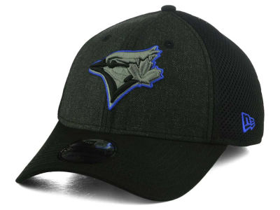 Toronto Blue Jays New Era MLB Black Heathered Neo 39THIRTY Cap