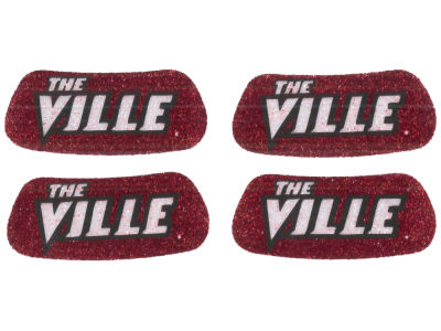 Louisville Cardinals 2 Pair Glitter Eyeblack Sticker