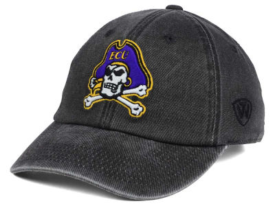 East Carolina Pirates Top of the World NCAA Rail Road Adjustable Cap