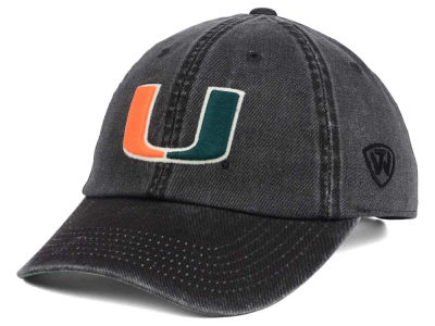 Miami Hurricanes Top of the World NCAA Rail Road Adjustable Cap