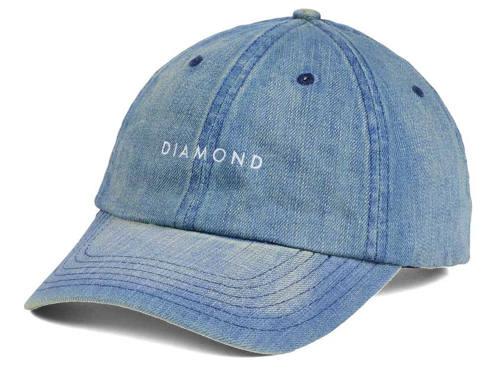 Diamond Washed Denim Sports Adjustable Hat  cf5f1840d68b