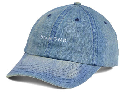 Diamond Washed Denim Sports Adjustable Hat