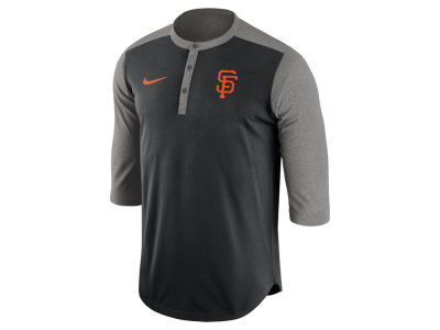 San Francisco Giants Nike MLB Men's Dri-Fit 3/4 Sleeve Henley T-Shirt