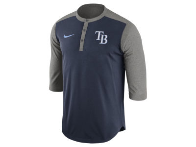 Tampa Bay Rays Nike MLB Men's Dri-Fit 3/4 Sleeve Henley T-Shirt