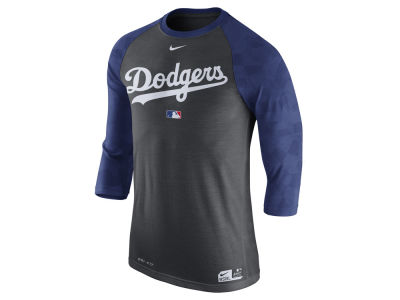 Los Angeles Dodgers Nike MLB Men's AC Legend 3/4 Raglan T-Shirt 1.7