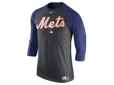 New York Mets Nike MLB Men's AC Legend 3/4 Raglan T-Shirt 1.7