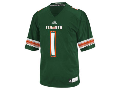 Miami Hurricanes #1 adidas NCAA Replica Football Jersey