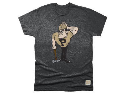 Purdue Boilermakers Retro Brand NCAA Men's Retro Mock Twist Team Logo T-Shirt