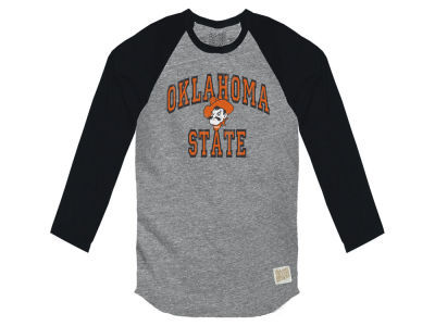 Oklahoma State Cowboys Retro Brand NCAA Men's Color Block Long Sleeve T-Shirt