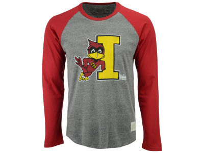 Iowa State Cyclones Retro Brand NCAA Men's Color Block Long Sleeve T-Shirt