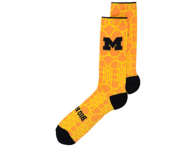 Michigan Wolverines Jordan NCAA Digital Print Socks