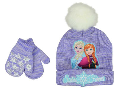 Disney  Frozen Toddler Back To Back Pom Knit Set