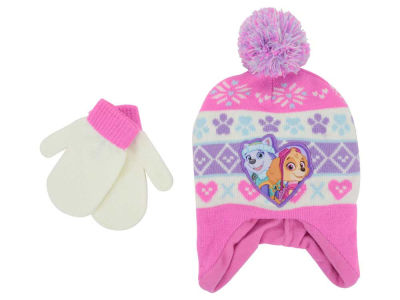 Nickelodeon Paw Patrol Toddler Girl Pom Knit Set