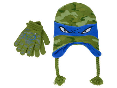 Teenage Mutant Ninja Turtles Teenage Mutant Ninja Turtles Kids Camo Turtle Peruvian Knit Set