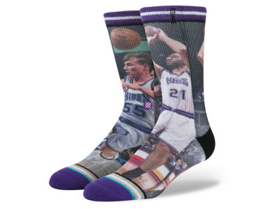 Sacramento Kings Vlade Divac Stance Legend Player Sock
