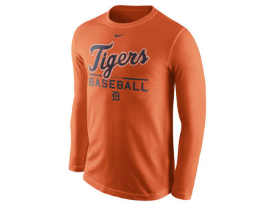 Detroit Tigers Nike MLB Men's Cotton Practice Long Sleeve T-Shirt