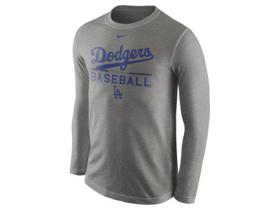 Los Angeles Dodgers Nike MLB Men's Cotton Practice Long Sleeve T-Shirt