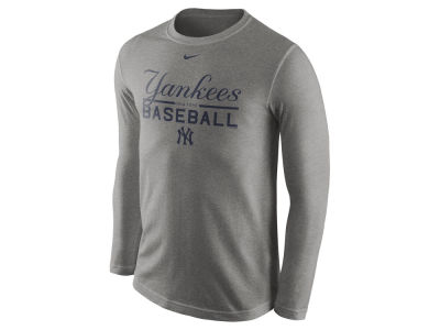 New York Yankees Nike MLB Men's Cotton Practice Long Sleeve T-Shirt