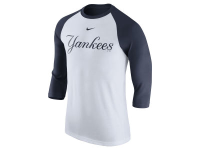 New York Yankees Nike MLB Men's Wordmark Raglan T-Shirt