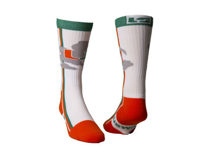 Miami Hurricanes Lifestyle Socks