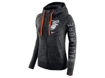 Baltimore Orioles Nike MLB Women's Gym Vintage Full Zip Hooded Sweatshirt