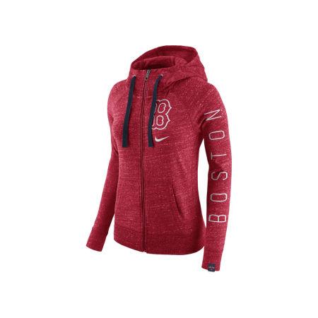 Boston Red Sox Nike MLB Women's Gym Vintage Full Zip Hooded Sweatshirt