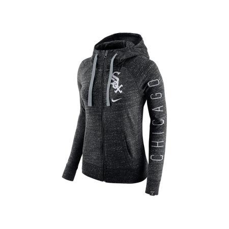 Chicago White Sox Nike MLB Women's Gym Vintage Full Zip Hooded Sweatshirt