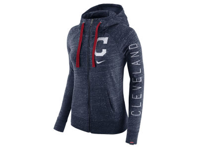 Cleveland Indians MLB Women's Gym Vintage Full Zip Hooded Sweatshirt