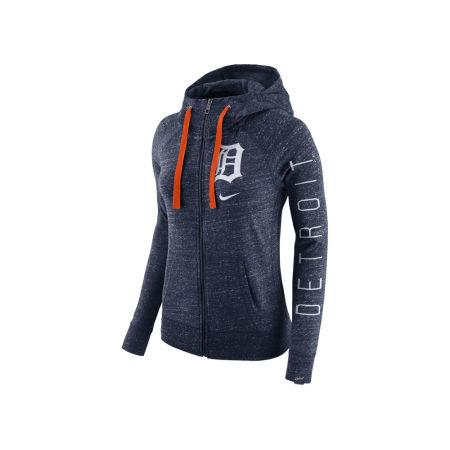 Detroit Tigers Nike MLB Women's Gym Vintage Full Zip Hooded Sweatshirt