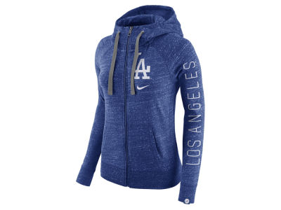 Los Angeles Dodgers Nike MLB Women's Gym Vintage Full Zip Hooded Sweatshirt