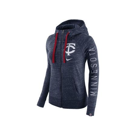 Minnesota Twins Nike MLB Women's Gym Vintage Full Zip Hooded Sweatshirt