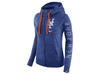 New York Mets Nike MLB Women's Gym Vintage Full Zip Hooded Sweatshirt