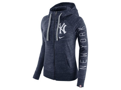 New York Yankees MLB Women's Gym Vintage Full Zip Hooded Sweatshirt